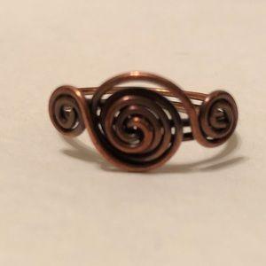Spiral copper wire ring